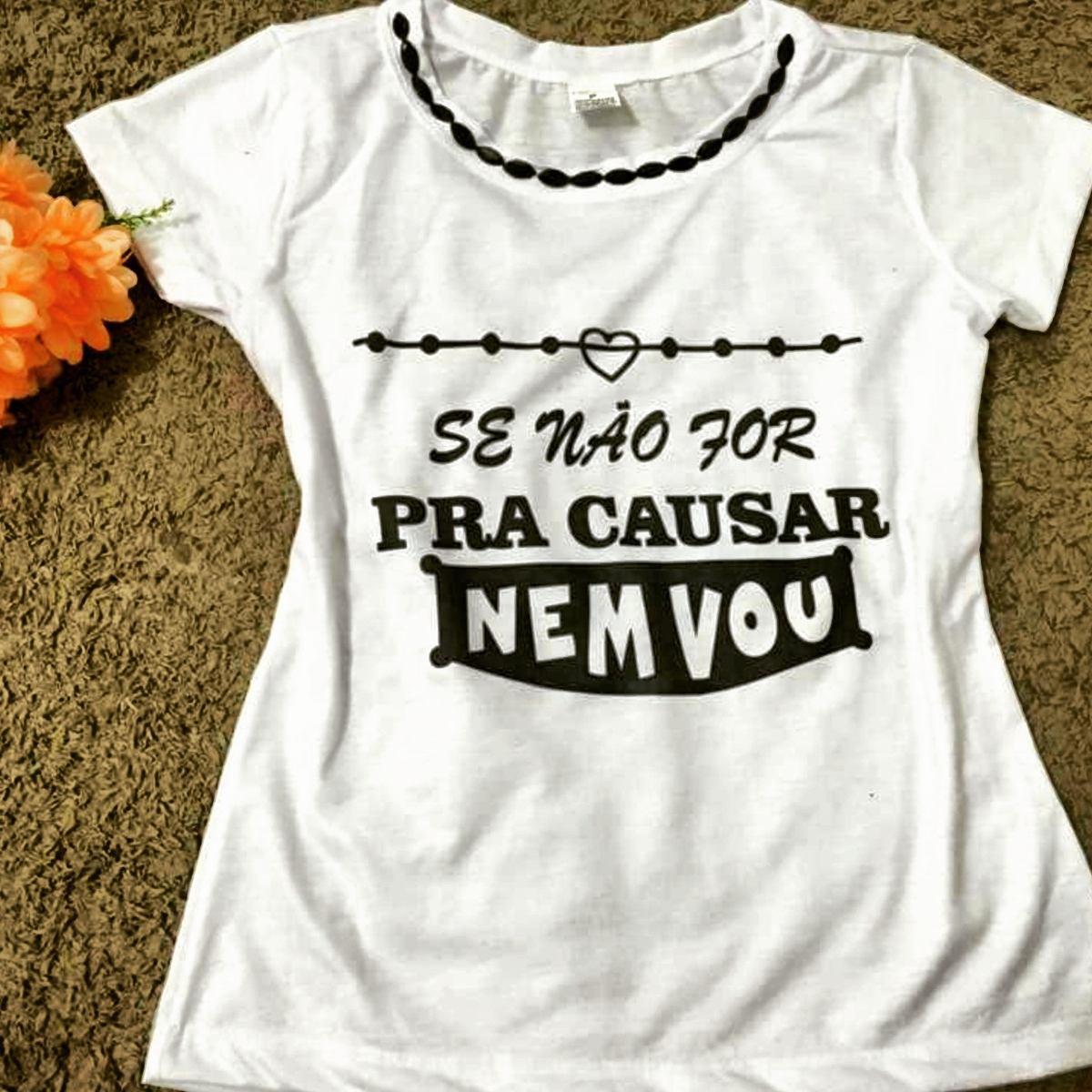 cf526b14b T-shirts Tees Bordadas Blusas Personalizadas Baby Look Moda - R  19 ...
