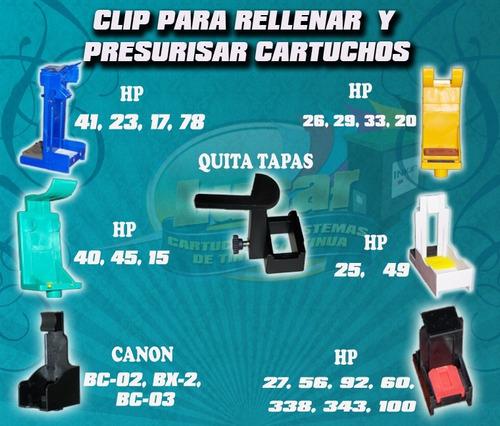 t13 clip de recarga de cartuchos canon  210/211 145/146 245/