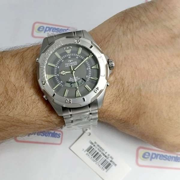 efffc8ad8afe2 T205fm 1c Relógio Technos Skydiver 52mm Anadigi Masculino - R  599 ...