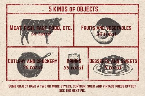 t33bm  150 vectores de comida y bebida diseñador photoshop