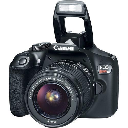 t6 eos rebel cámara dslr con ef-s 18-55mm  75-300mm iii kit