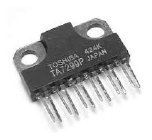ta7299p ta 7299p audio amplifier 2x5,8w toshiba sil-12