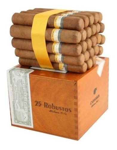 tabaco habano cohiba  robusto caja de 25