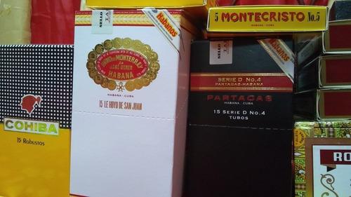 tabaco habano partagas serie d no.4 tubo aluminio