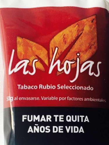 tabaco para armar las hojas rubio x 50 gramos x 10 paquetes