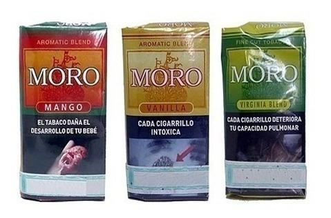 tabaco para armar moro mango virginia suave pack x5 de 35g