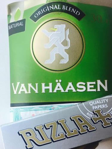 tabaco para armar van haasen 30gr + papel  regalo cigarrillo