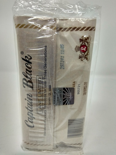 tabaco picadura captain black para pipa sabor natural