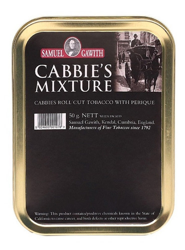tabaco pipa samuel gawith cabbies mix p/ fumar pipas tabacos