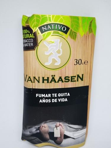 tabaco van haasen nativo x10 para armar cigarrillos x 30 grs