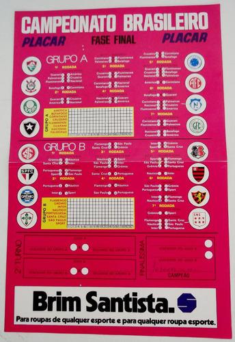 tabela campeonato brasileiro 1975 fase final