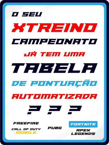 tabela de pontuação - xtreino campeonatos - automatizada