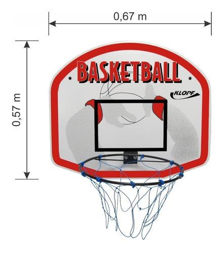 tabela infantil de basquete com aro e rede