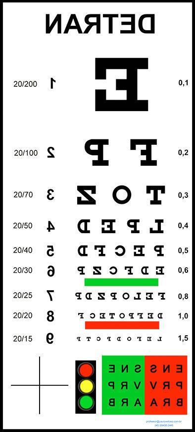 tabela para exame de vista do detran r$ 135,00 em mercado livre63503 Detran Exame #7