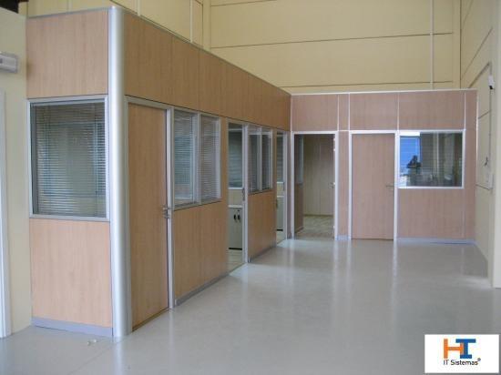 Tabiques divisorios oficina aluminio madera 18mm 500 00 en mercado libre - Tabiques de madera ...