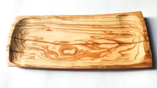 tabla ahuecada olivo para picadas 37 x 14 x 2 cm