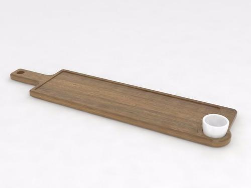 tabla asado modelo león (60x18cm) incluye dip. ajidiseño