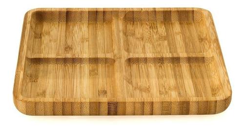 tabla con 4 divisiones en bambu ideal picadas
