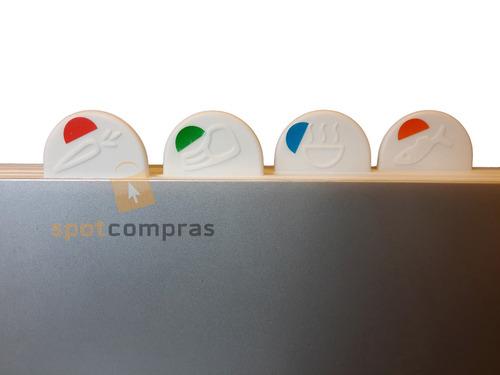 tabla cortar picar set x4 tablas corte chef plastico colores