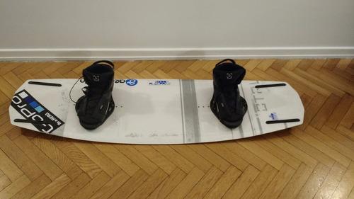 tabla ctrl wakeboard p/ cable parque + botas ronix abiertas