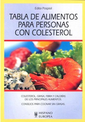 tabla de alimentos para personas con colesterol, hispano