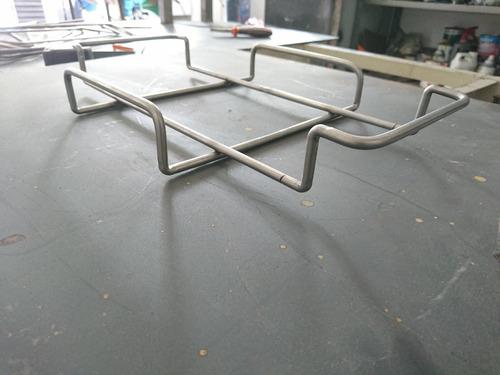 tabla de bloque de sal de himalaya, con base de acero inox