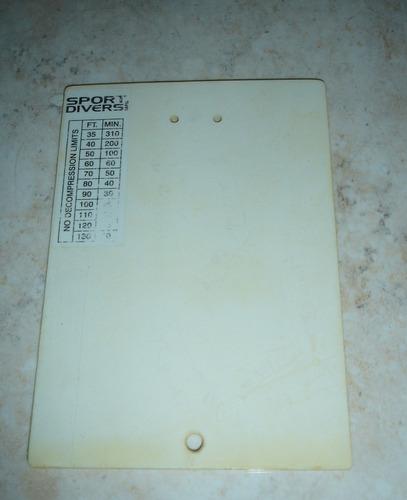 tabla de buceo usada