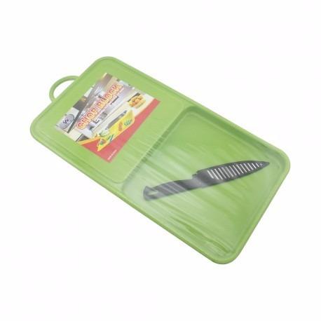 tabla de cocina para picar anti-baterial incluye cuchillo