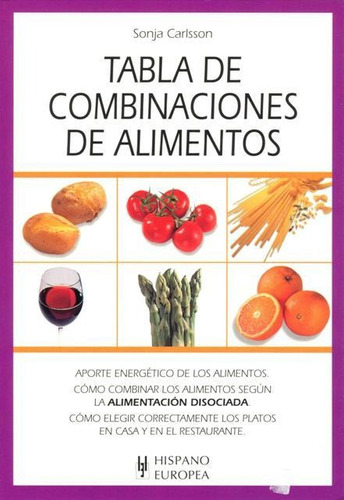 tabla de combinaciones alimentos, carlsson, hispano europea