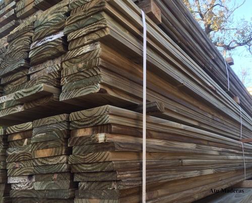 tabla de deck cca - 1x6 3.30m atu maderas tratada