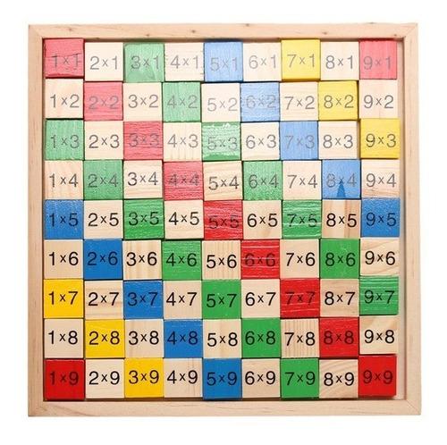 tabla de multiplicar de madera, juguete montesori, didactico