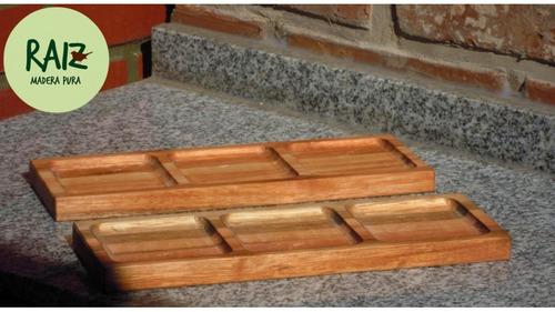 tabla de picada triolet - mod. carcaraña - raiz  (pack x 3)