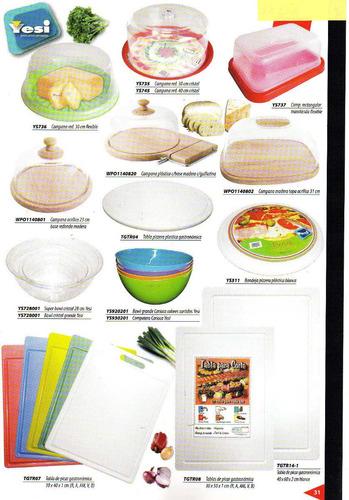tabla de picar gastronomica 46x60x2cm amarilla