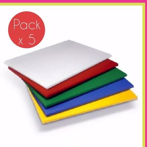 tabla de picar tabla de corte en colores 30x40cm pack x5