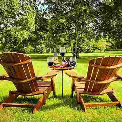 tabla de picnic plegable de bambú con cubertería para mesa