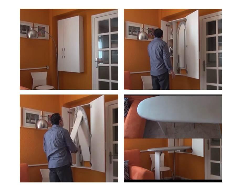 Armarios con tabla de planchar incorporada cheap cmo hacer y decorar un armario para la plancha - Mueble tabla de planchar ikea ...