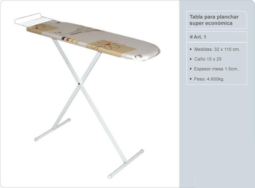 tabla de planchar art 1 super economica. 2 posiciones.