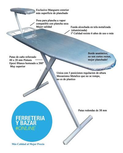 tabla de planchar reforzad especial manguero tela metalizad