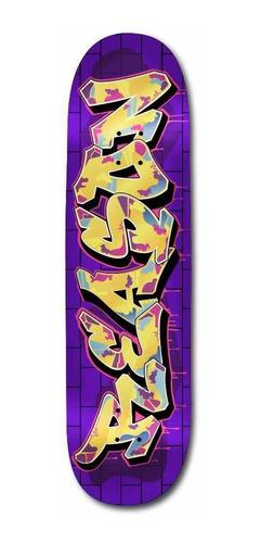 tabla de skate guatambú reason + lija nacional