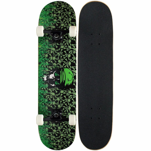 tabla de skate krown flama verde
