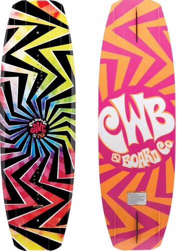tabla de wakeboard lancha y parque cwb jive 143 botas empire
