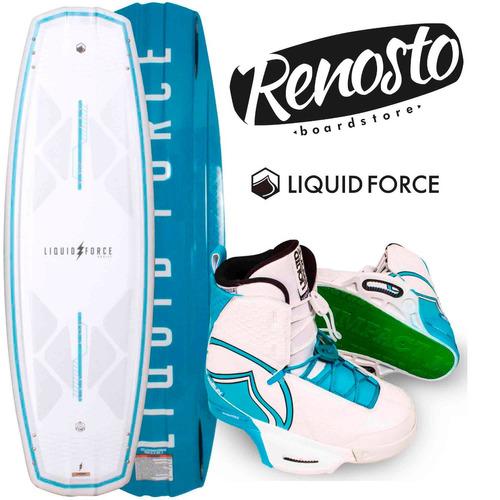 tabla de wakeboard liquid force harley 2017 con botas harley