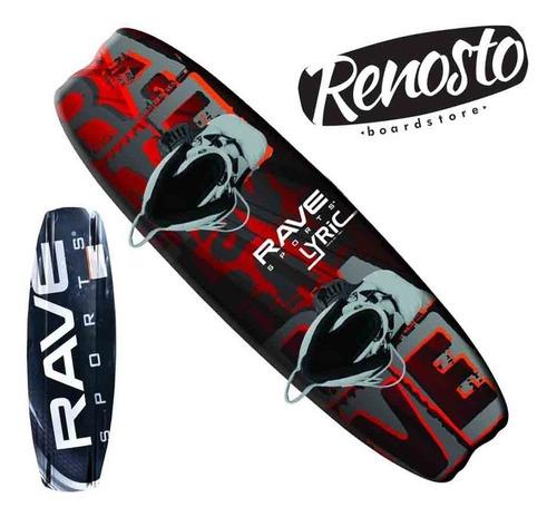 tabla de wakeboard rave lyric con botas altas con 2 cordones