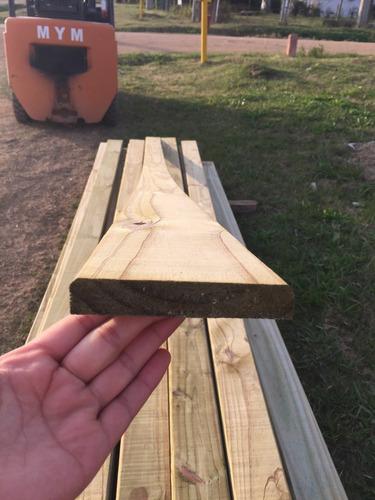 tabla deck curadas cca1x5x3.30mt madera tratada piso pared