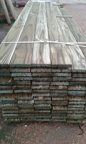 tabla deck de 6 × 1   × 3mt pino tratado  madera