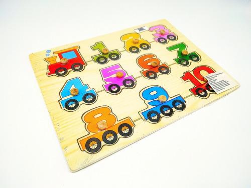 tabla figuras encajar números con agarradera juego didáctic