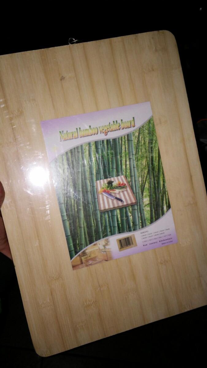 Tabla madera bambu 40 x 30 cm ideal asado cocina for Regalo muebles usados