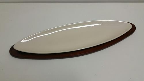 tabla madera picada copetin copetinero + recipiente loza!