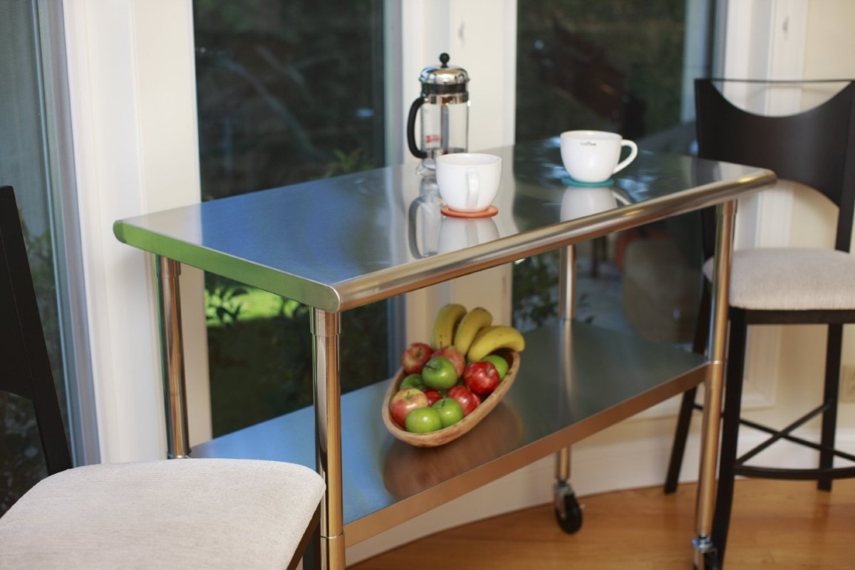 Tabla mesa de trabajo cocina acero inoxidable auxiliar hm4 for Mesa trabajo cocina