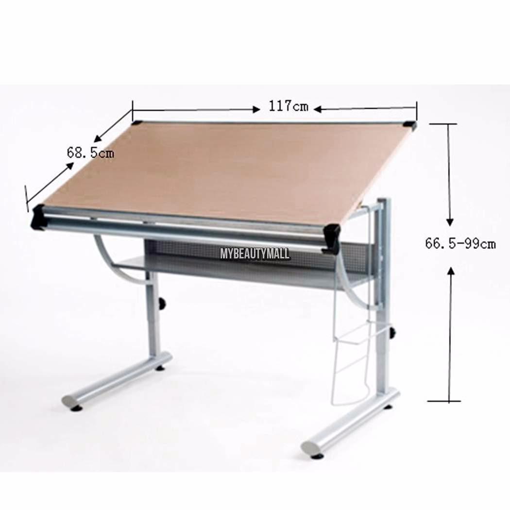 Tabla mesa de trabajo para dibujo escritorio restirador for Dimensiones mesa escritorio